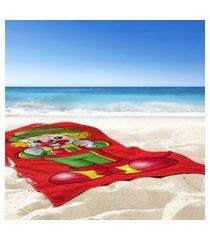 toalha de praia / banho patati com gravata - produto licenciado único