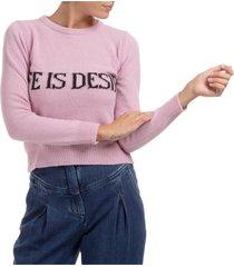 maglione maglia donna girocollo life is desire capsule collection