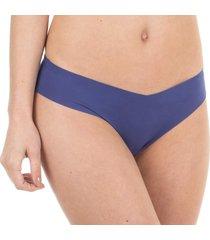 calcinha sem costura azul make - 406.022 marcyn lingerie básica azul