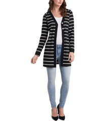 vince camuto striped double-button cardigan sweater