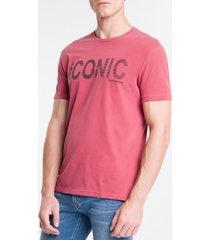 camiseta masculina iconic vermelha calvin klein jeans - pp