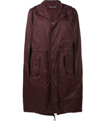 valentino hooded cape - red