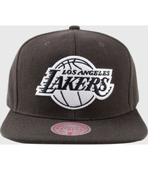 gorro los angeles lakers if34 café mitchell and ness