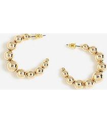 *ball rounded hoop earrings - gold
