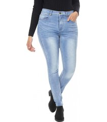 jeans skinny basico mujer azul medio corona