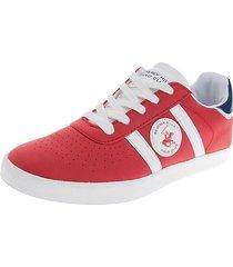 zapatos  beverly hills polo club rojo