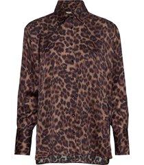 costume x inwear shirt overhemd met lange mouwen bruin inwear