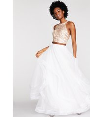 say yes to the prom juniors' embroidered 2-pc. gown created for macy's