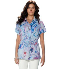 blouse amy vermont wit::lichtblauw::paars