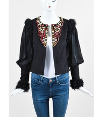 chanel beaded cashmere lamb fur jacket