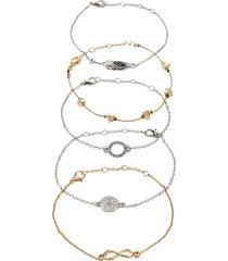 braccialetti (set 5 pezzi) (argento) - bpc bonprix collection