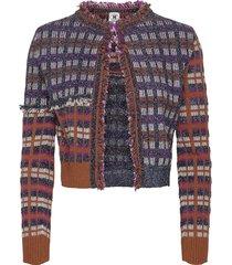 m missoni jackets blazers bouclé blazers multi/mönstrad m missoni