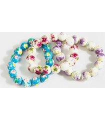 heidi porcelain beaded bracelet set - multi