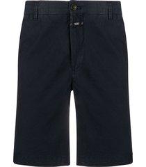 closed straight leg chino shorts - blue