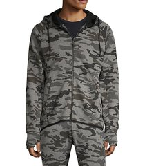 camoulfage-print cotton-blend hoodie