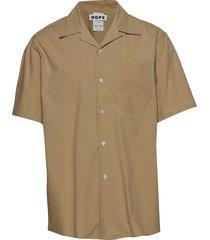 camp shirt kortärmad skjorta brun hope