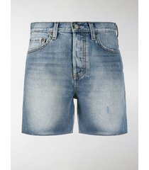 boyish jeans faded denim shorts