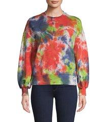 tie-dyed cotton sweatshirt