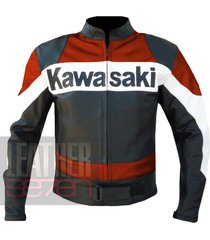 kawasaki 2020 orange leather motorcycle motorbike biker  armour racing jacket