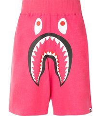 a bathing ape® shark wide track shorts - pink