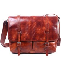 old trend speedwell leather messenger bag