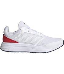 tenis running adidas galaxy 5 - blanco-rojo