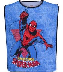 colete de futebol marvel homem aranha mvl055 - adulto - azul