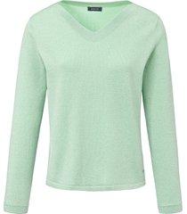trui met v-hals en lange mouwen van basler groen