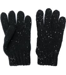 bonpoint speckled knit gloves - black