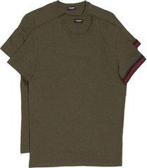 t-shirt maglia maniche corte girocollo uomo 2 pack