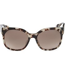 57mm square faux tortoiseshell sunglasses