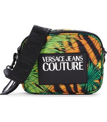 versace jeans couture women's logo jungle-print crossbody bag - multi chair