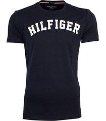 tommy hilfiger icon t-shirt donkerblauw met logo