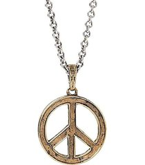 distressed peace sign necklace