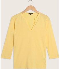 camiseta manga 3/4 cuello neru escote en v unicolor-l