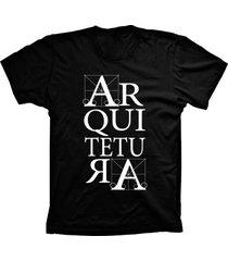 camiseta lu geek manga curta arquitetura preto