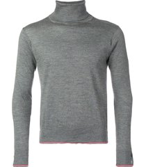 thom browne classic cashmere turtleneck pullover - grey