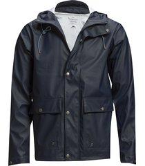 lake short rain jacket regnkläder blå knowledge cotton apparel