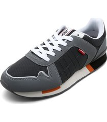tenis gris-naranja-blanco levis