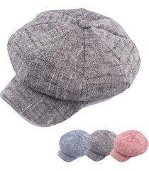cappello da berretto da uomo con cappuccio ottagonale in lino vintage da donna cappello da berretto da viaggio casual cappello da pittore da viaggio