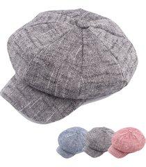 cappello ottavo cappello berreto cappello casual del cappello di navigazione del cappello del cappello di tela dell'annata delle donne delle donne