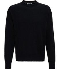 jil sander black wool and cashmere sweater