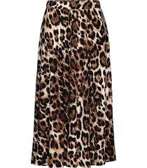 skirt knälång kjol brun ilse jacobsen