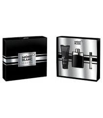 kit montblanc perfume legend eau de toilette 100ml + aftershave 100ml + mini 7,5ml masculino único