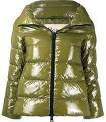 herno glove-insert padded jacket - green