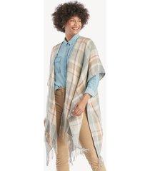 women's plaid cozy kimono grey one size from sole society