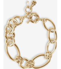 lucky brand gold-tone round & oval link bracelet