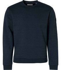 no excess sweater crewneck fancy jacquard night