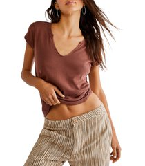 women's free people always yours t-shirt, size x-large - brown