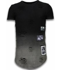 t-shirt korte mouw justing pictured flare effect long fi dual